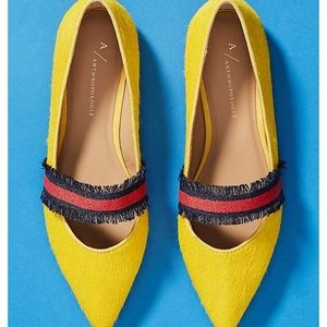 Anthropologie Ribbon Flats